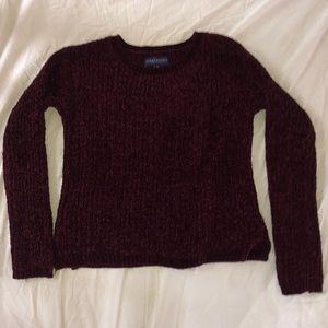 Aeropostale knit maroon sweater